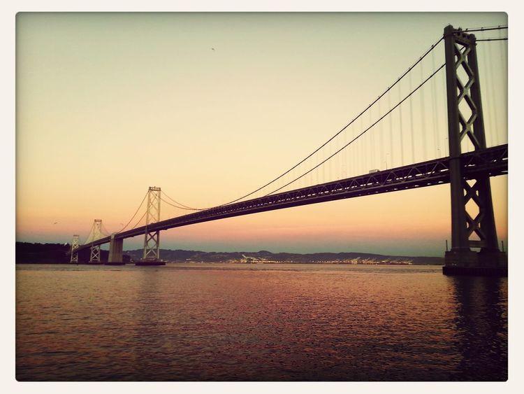 First Eyeem Photo Low Angle View Sunset Sunset_collection Bay Area Oakland Bay Bridge Bay Bridge