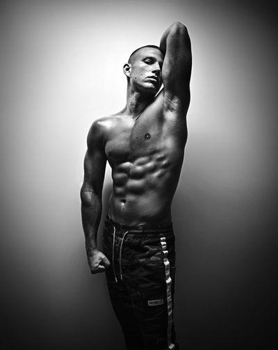 """Tough times don't last forever, tough people do"" ~ Mike Tyson. Muscler Body Mike Tyson Shirtless One Man Standing Blackandwhite Portrait Portrait Photography Nikon Studio Shot"