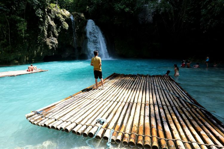People At Kawasan Falls