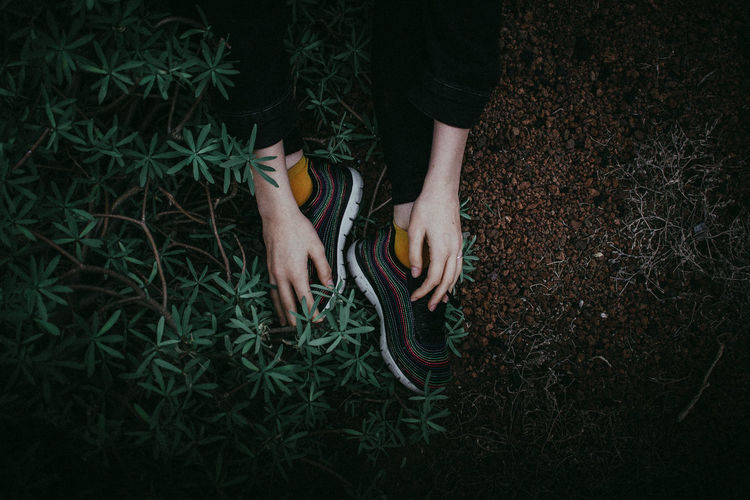 Details EyeEm Of The Week Hands The Week On EyeEm Field Grass High Angle View Human Body Part Human Hand Lifestyles Low Section Nature Outdoors Real People Shoes Socks Women Fresh On Market 2018