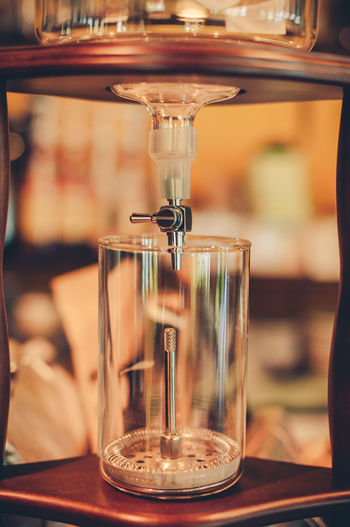 Detail shot of drink dispenser