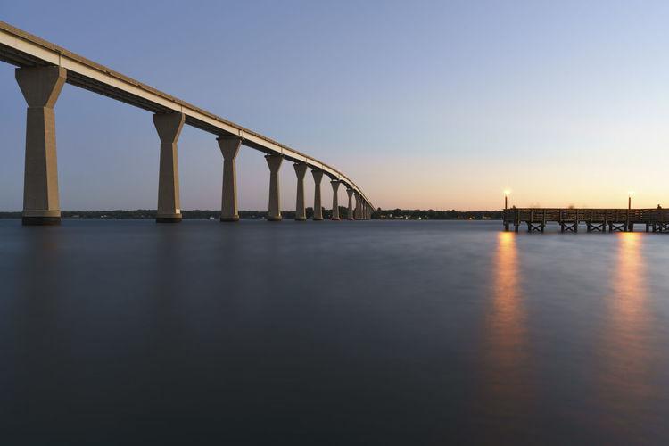 Cantilever bridge over patuxent river