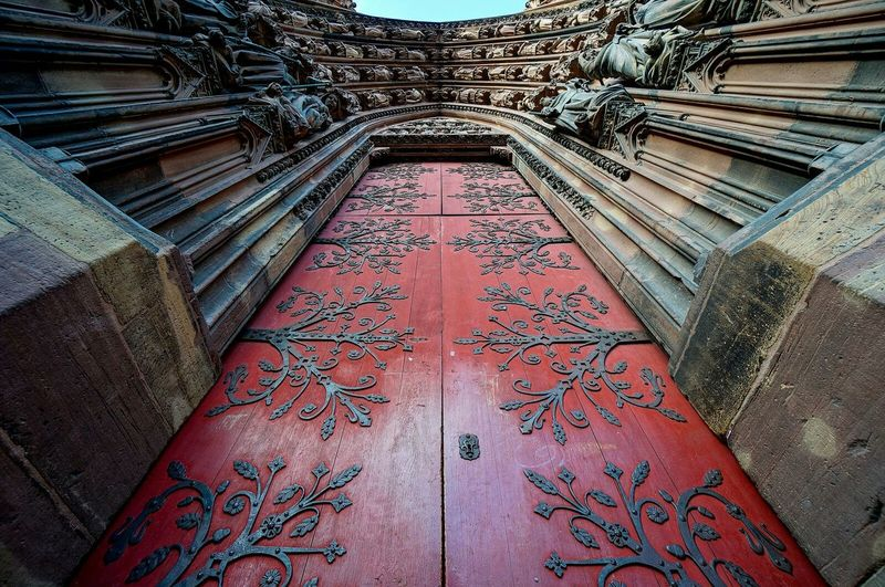Church Cathedral Door Red Wideangle