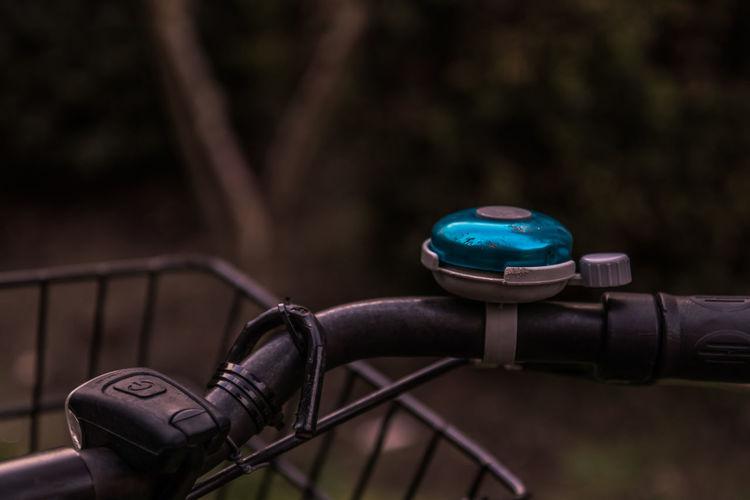Close-up of bicycle ringbell
