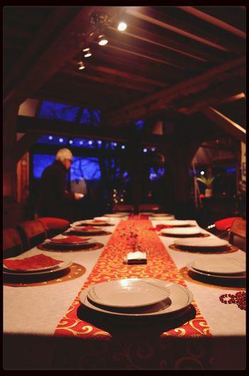 Festive Season Christmas Table Ambiance