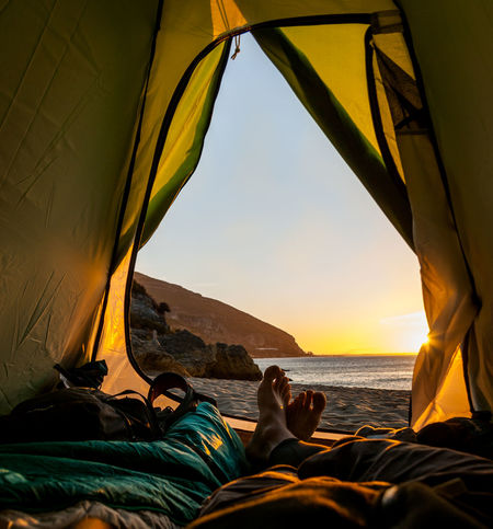 Camping Exploring Galapinhosbeach Light Lost In The Landscape Morning Portugal Setubal Sunlight Beach Beauty In Nature Outdoors Sand Sea Sunrise Tent Travel Destinations