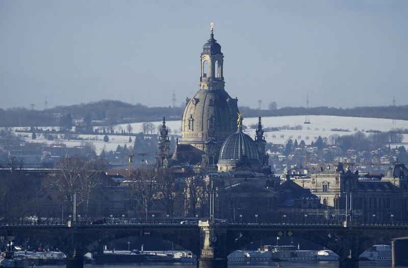 Frauenkirche Dresden,Germany Built Structure Architecture Building Exterior City Sky Belief Religion Water Nature Travel Destinations Place Of Worship Building Cityscape Spirituality Travel No People Outdoors Dresden Frauenkirche