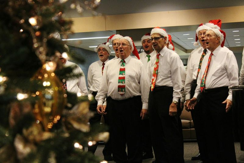 Christmas Around The World At a recent appointment, I came across a men's choir singing Christmas carols at Buffalo General Hospital. Taking Photos Buffalo,ny Christmas Spirit Christmastime Holidays Feliznavidad Noel2015 Happynewyear Happy Hanukkah Christmas Is Coming Kwanzaa Merry Christmas Check This Out Choir  Singing The Culture Of The Holidays