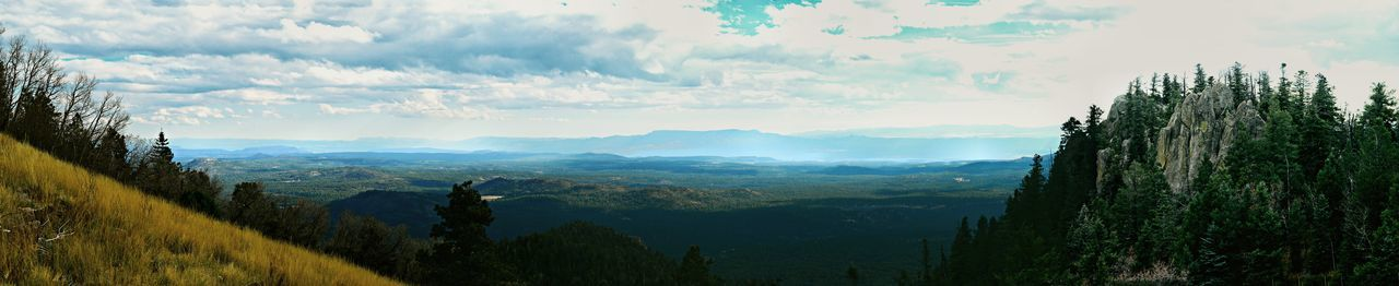 85mp shot from Bill Williams Mountain Lookout Landscape Nature Mountain Photographer Scenics Beauty In Nature Cloud - Sky Tree Outdoors Sky No People Nature Arizona Tranquil Scene Panoramic Landscape