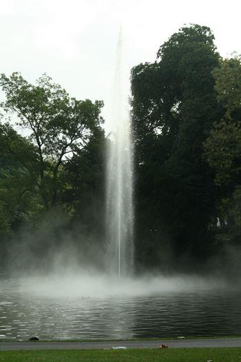 Park Fontein Lange Sluitertijd Fountain Long Exposure Breda, Netherlands