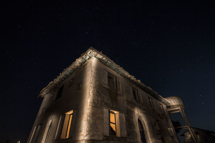 Architecture Astronomy Building Building Exterior Built Structure Galaxy Illuminated Infinity Low Angle View Nature Night No People Old Outdoors Sky Space Space And Astronomy Star Star - Space Star Field Window