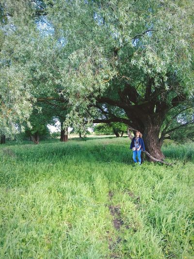 Growth Field Real People Grass Nature One Person Standing Tree Green Color Outdoors Day Full Length Men Freshness Beauty In Nature People Adult