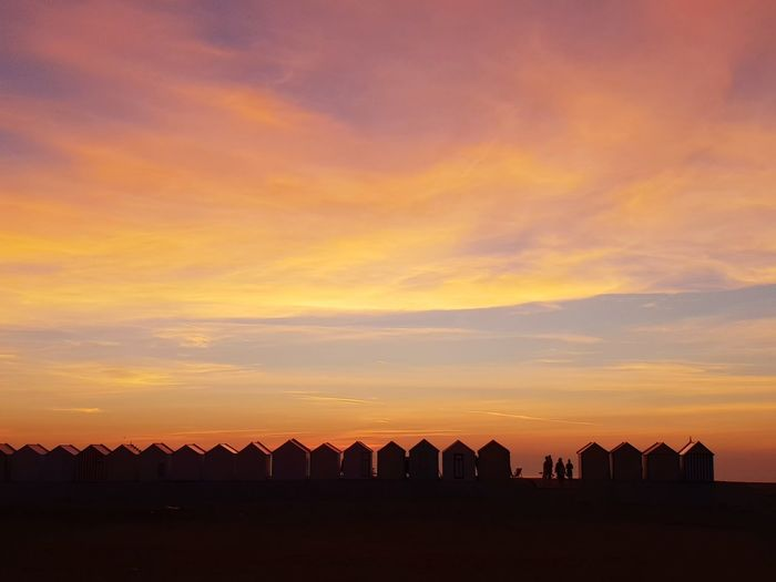 Sunset Astronomy City Rural Scene Silhouette Sky Architecture Building Exterior Animal Themes Cloud - Sky Orange Color Tranquil Scene Idyllic Scenic View Calm