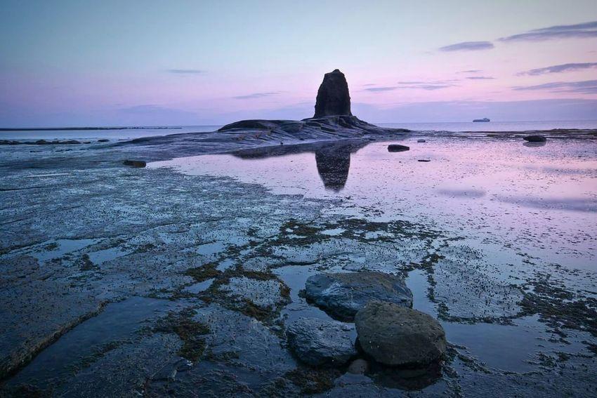 Seaside Landscape Dawn Saltwick Bay