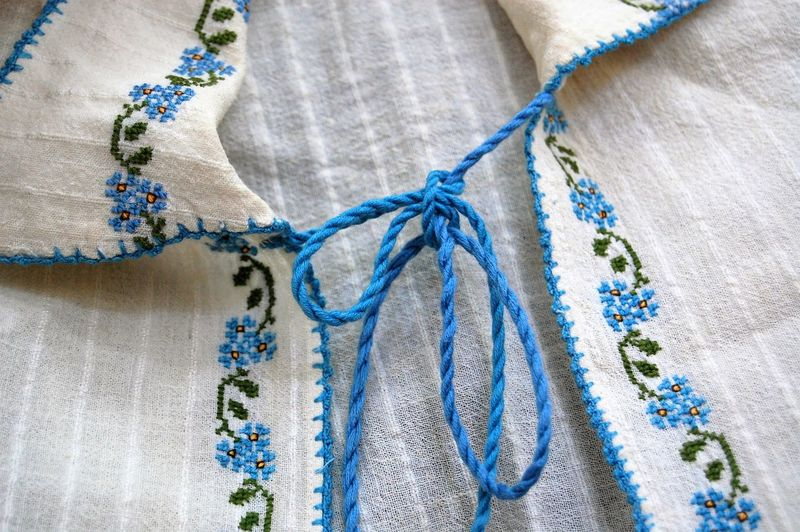 macedonian shirt traditional Green Color Macedonia Traditional Clothing Woman Blue Close-up Clothing Cotton Craft Day Fashion Full Frame High Angle View Indoors  Material No People Pattern Rope Shirt Studio Shot Textile Thread Tied Up White Color Wood - Material Wook