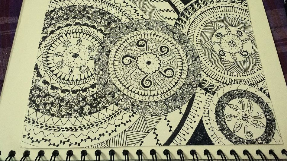 Doodles Close-up Indoors  EyeEmNewHere Mandala Doodlesofinstagram Goa ❤❤ No People Day Adapted To The City