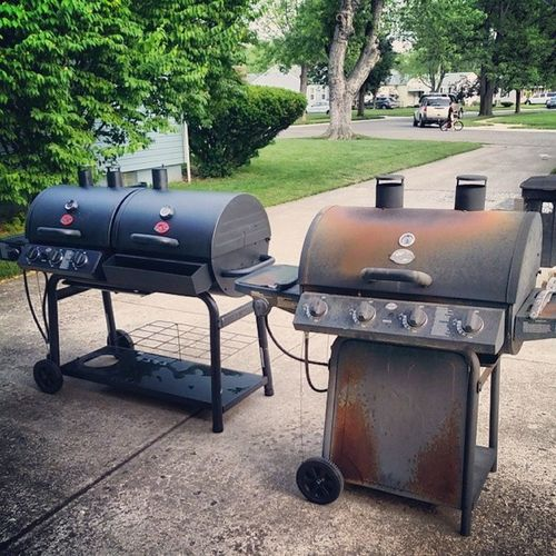 Dang... I'm coming up in this world..got a deluxe grill now Steppingmygameup Singledadgrillerforlife Chargriller LikeABOSS