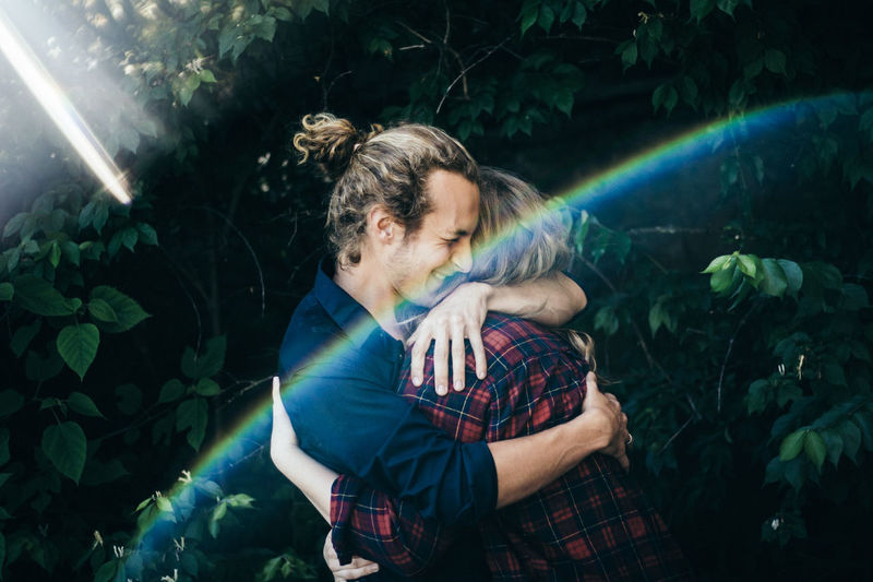 Break The Mold One Person Adult People One Woman Only Outdoors Water Only Women Forest Blond Hair Nature Adults Only Night Popular Music Concert Young Adult Couple - Relationship Couple Cheerful Portrait Headshot Eyes Closed  Smiling Beauty Adults Only Adult
