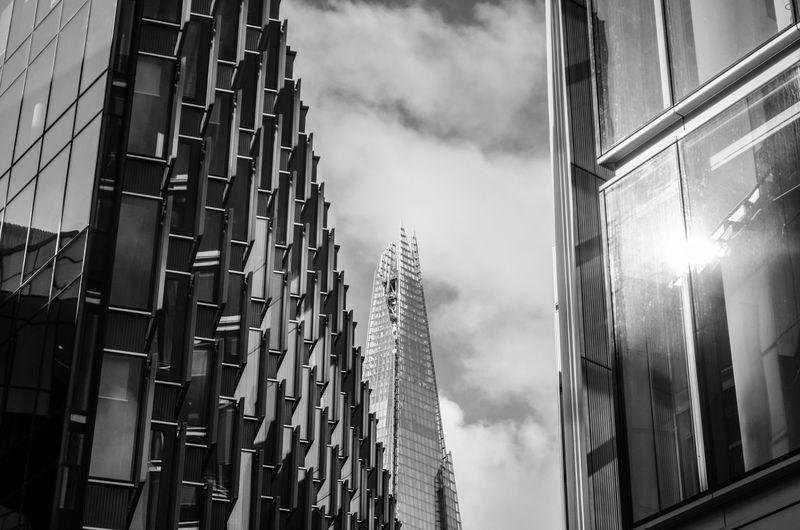 Architecture Blackandwhite Blackandwhitephotography Building Building Exterior City Cloud Cloudy D7000 Dayout London Modern Nikon Nikon D7000 Nikonphotography No People Outdoors Overcast Shard The Architect - 2016 EyeEm Awards