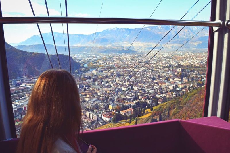 City View Through The Window Cityscapes City View  Landscape Renon Bolzano Bolzano - Bozen Town Travel Tourist One Person South Tyrol Südtirol Cable Car Transportation Window Tourism Bozen Italy The Tourist