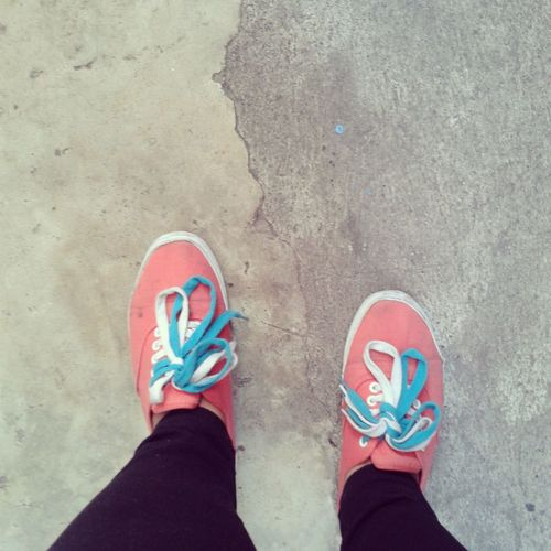 Shoeselfie Sneakers Orangeandblue Hanging Out