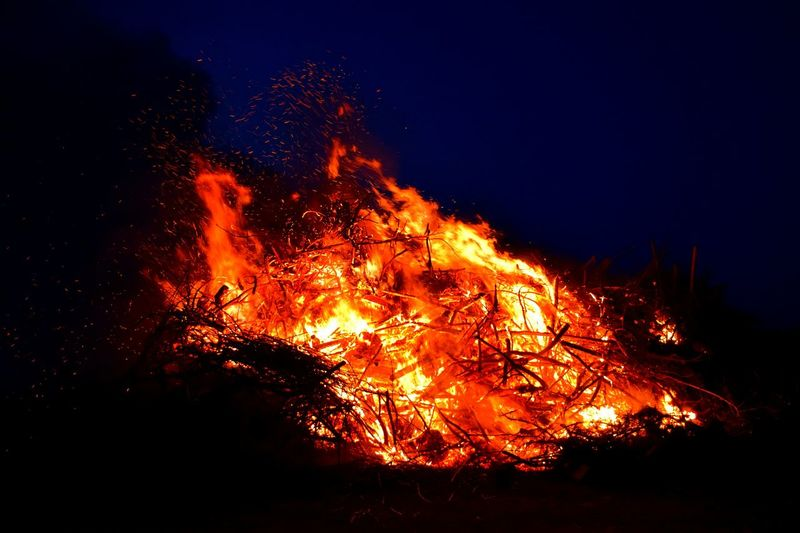 Taking Photos Check This Out Spring 2016 Spring Has Arrived 2016 Easter Easter 2016 Fire In The Sky Fire I See Fire 🔥 Easter Traditions Easter Fire Altmark Night Sky Fireplace Fire And Flames