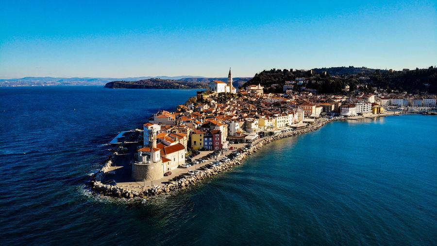 DJI X Eyeem Dji Piran Slovenia Dronephotography Aerial Photography #drones #EyeEm Water Sea Clear Sky Sailing Ship Beach Blue Yachting Harbor Yacht Sailboat