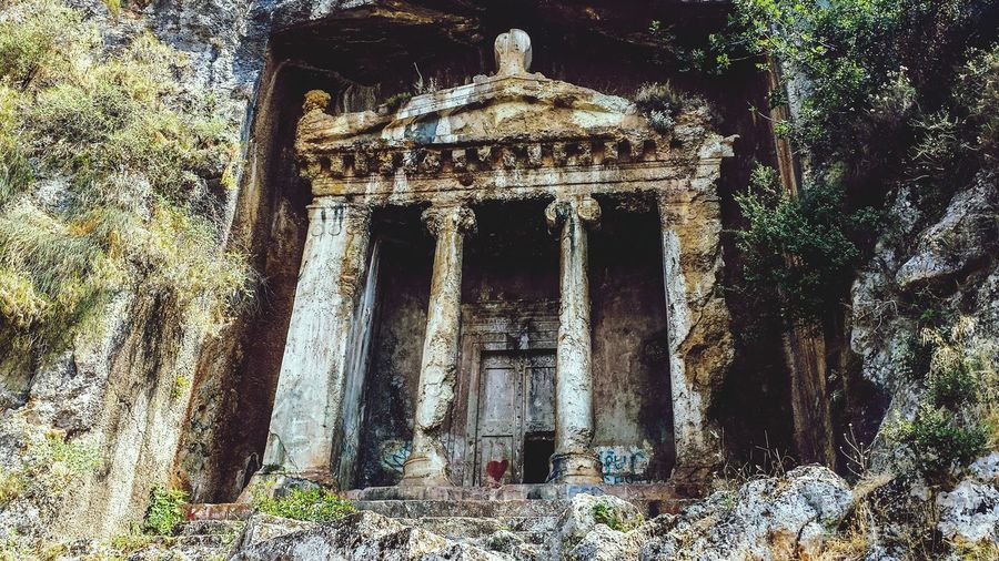 Fethiye Telemessos Amynthas Tomb Lycia Ruins Mountain Western Asia Outdoors Ancient Civilization Lycian Tomb 4th Century B.C