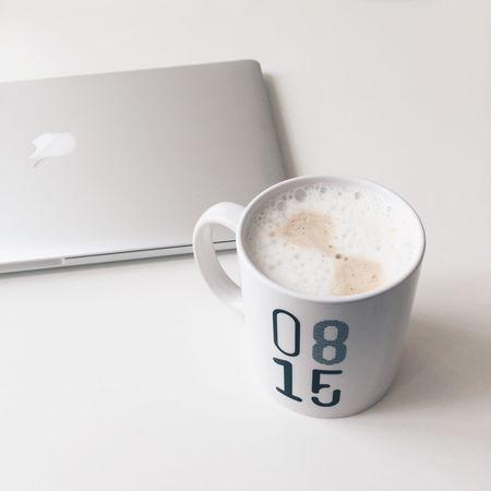 Typical Monday 0815 Cappuccino Coffee Break MacBook MacBookPro Monday Tired Wakeup Work Workspace