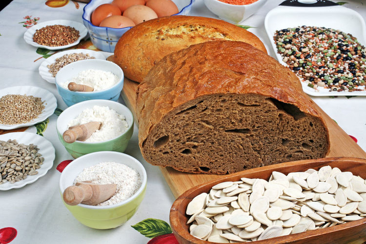 Hand-made bread,Zagreb,Croatia,Europe,7 Bread Close-up Croatia Eu Europe Everyday's Food Freshness Hand-made Healthy Eating Home-made Home-made Is Home-made Indoors  Meal Plate Ready-to-eat Table Zagreb