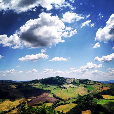 Panorama Countryside Italy Marche Monte Grimano Terme