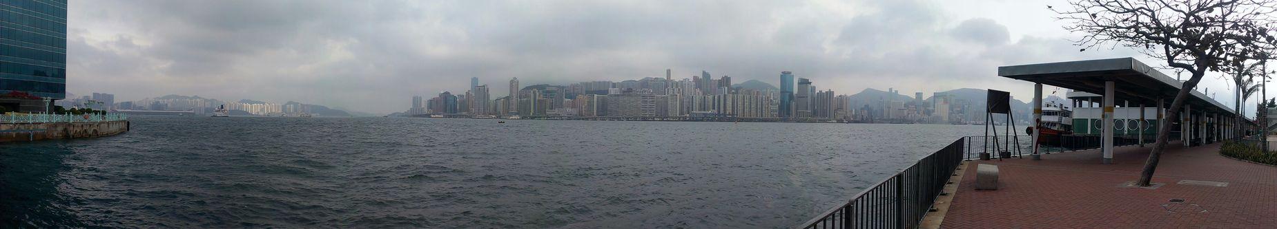 Victoria Harbour Panorama Hong Kong Noedit Enjoying The Sights