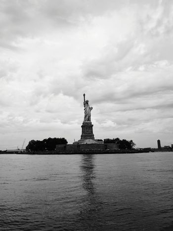 Sculpture Travel Destinations Statue Freedom Water Ferry Views Statue Of Liberty New York New York City Liberty History Statue Architecture