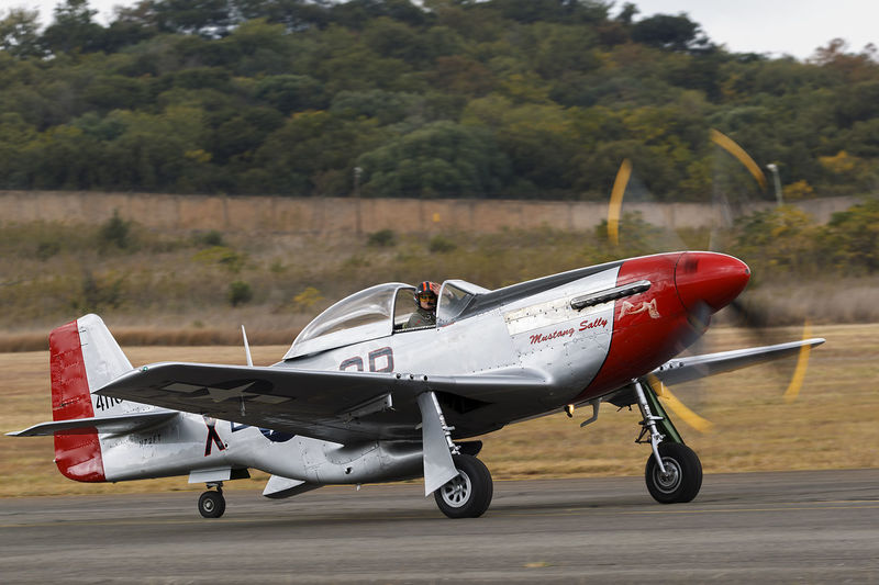Aerospace Industry Air Force Air Vehicle Airplane Airport Runway Airshow Day Fighter Plane Military Military Airplane Mustang Old-fashioned Outdoors Propeller Airplane Side View Vintage War Birds