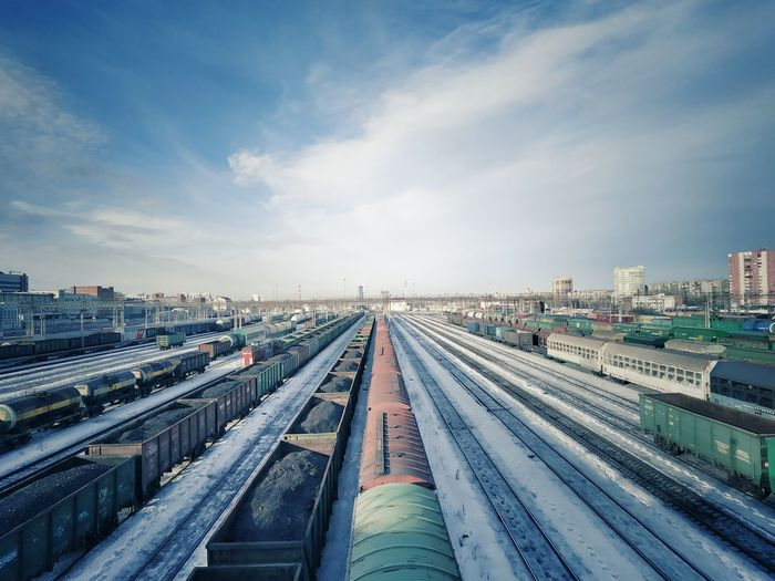 Coal train Coal Train Cargo Container City Cityscape Urban Skyline Subway Train Railroad Track Train - Vehicle Freight Transportation Station Public Transportation Business Finance And Industry