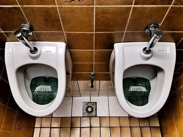 Urinal Tile Bathroom Indoors  Hanging No People Hygiene Day Men Toilet Toilette Art Toilets