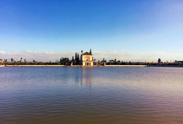 Jardin Menara Marrakech Morocco Morroco Marrakesh Marrakech Built Structure Architecture Water Sky Building Exterior Waterfront Building