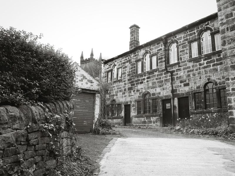 Heptonstall Museum Old School House Trees Path Buildings Heptonstall Black And White Monochrome Black & White Pathway Learn & Shoot: Balancing Elements Learn & Shoot: Leading Lines Light And Shadow Hebden Bridge EyeEm Best Shots Happy Valley Landscape Simplicity Village Village Life Quaint  England Old Architecture Houses Church