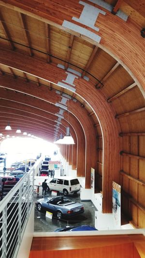 Auto Museum Auto Museum ArchiTexture Modern Wood Structure Classic Cars Sports Cars Restaurant Lighting Wooden Structure Automotive Abstract Illuminated Architecture