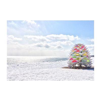 Art by the lake Canada Toronto Lake Lake View Beach Sunshine Happy Colors Bright Snowcone