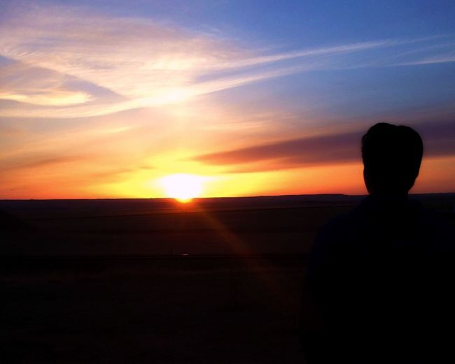 Creative Light And Shadow sunset