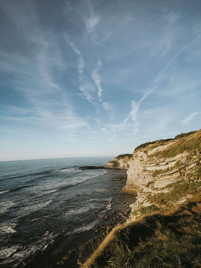 Sea Water Sky Land Horizon Beauty In Nature Beach Horizon Over Water Scenics - Nature Nature Tranquility Tranquil Scene Cloud - Sky Rock No People Non-urban Scene Day Cliff Outdoors