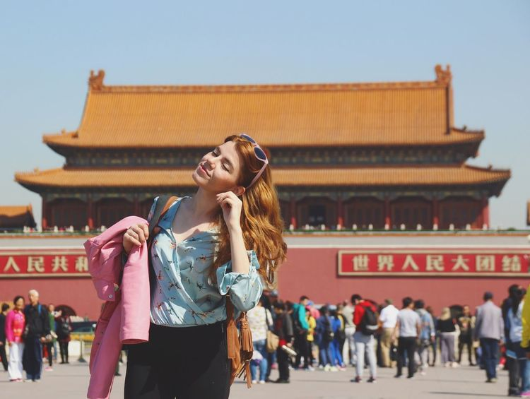 Sold On Getty Images History Travel Destinations Arts Culture And Entertainment Cultures People Tradition Tourism Architecture Adult Travel Young Women Day Outdoors Adults Only City Politics And Government Female Traveler Female Traveller Beijing Beijing, China Tiananmen Square Sightseeing Tourist Destination EyeEm Selects Connected By Travel An Eye For Travel Stories From The City #urbanana: The Urban Playground Summer In The City