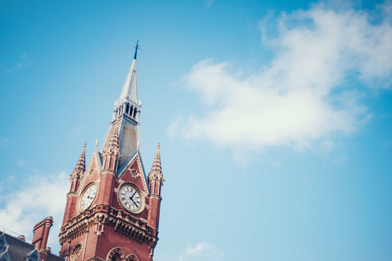 Architectural Feature Architecture Blue Blue Sky Clock Clock Tower Clocktower Day European Clock Tower Low Angle View Sky Tourism Tower And Sky The Architect - 2016 EyeEm Awards