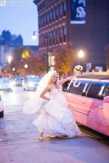 An Awesome Bride Brides Bride Pink Limo Pink Beautiful Bride ♥♥ Fun Times Portrait