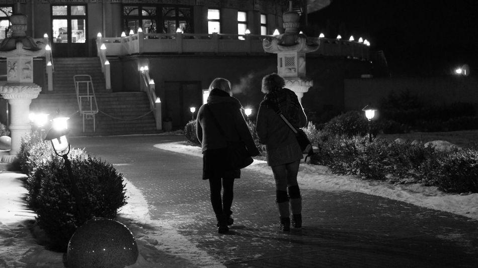 Black & White Ladys Night Photography Friends Street Photography B&w Street Photography B&W Portrait B&w Night Walk Ladys Night Night Lights Light And Shadow January2016 Black And White Portrait Black