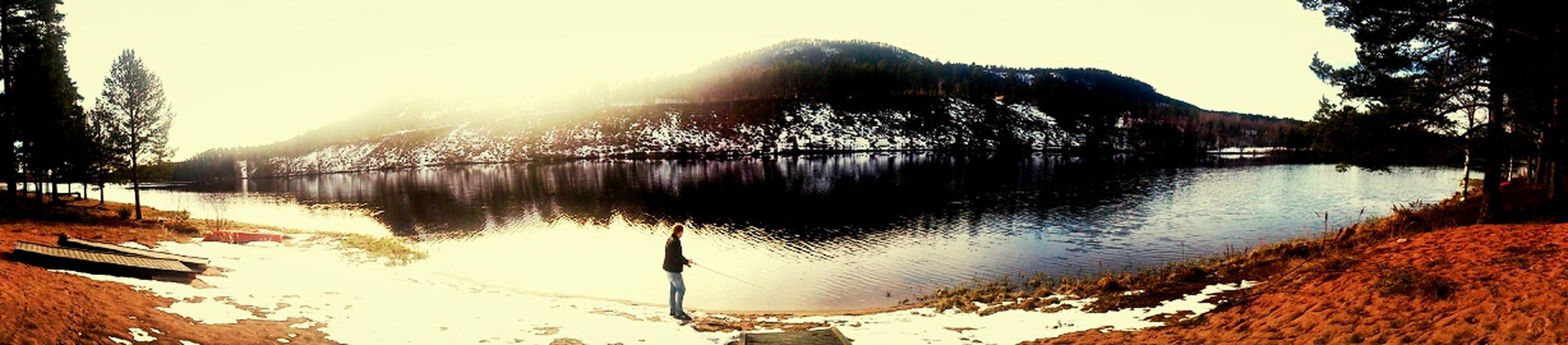 Mountain Lake Enjoying Life Relaxing