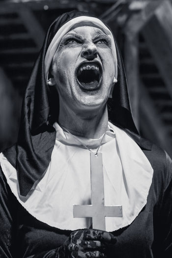 Spooky Nun Screaming At Night