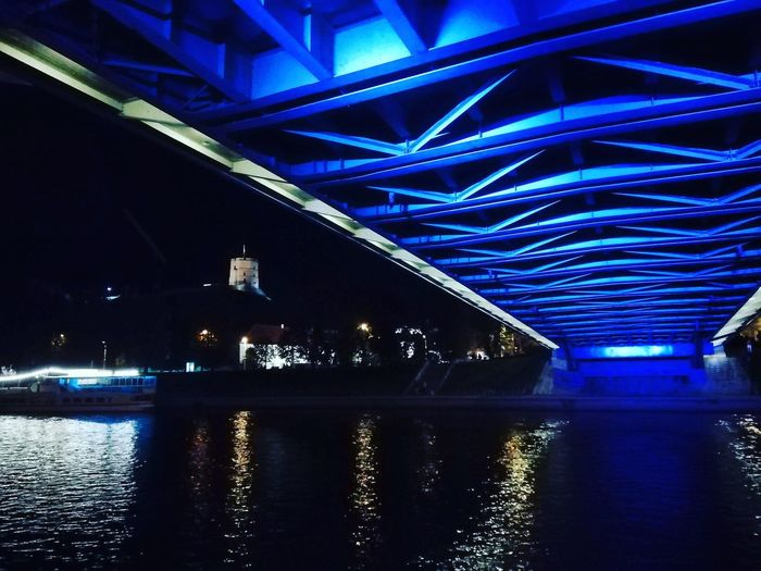 HUAWEI Photo Award: After Dark Illuminated Water Bridge - Man Made Structure Reflection Architecture Built Structure
