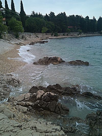 Beauty In Nature Calm Coastline Crikvenica Croatia Day Idyllic Nature Outdoors Rock - Object Sea Sky Tranquility Water